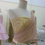 Thai traditional shirt with hand bea work emblishment.