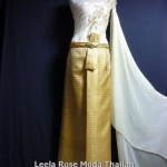 More gold color Thai traditional dresses at Leela Rose Moda