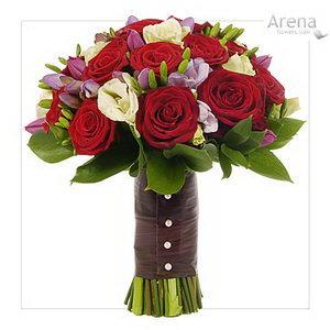 รูปช่อดอกไม้งานแต่งงาน เจ้าสาว แบบที่ 6 คละสี