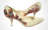 รองเท้าผู้หญิงน่ารักอินเทรนด์แปลกๆ แฟชั่นทำมือ Graffiti ไม่เหมือนใคร