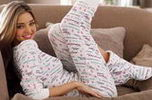 ชุดนอน น่ารัก ผู้หญิง วัยรุ่น Miranda Kerr