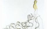 ภาพสเคทช กะโปรแกรมออกแบบเสื้อผ้า ดอกไม้แห้งจิ๊บจิ๊บ หรือดอกไม้ริมทาง