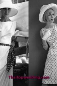 ชุดย้อนยุค เสื้อผ้าที่หาง่ายสุดๆ ก็ต้องลายจุดแบบนี้ และต้องยาวเท่าๆนี้