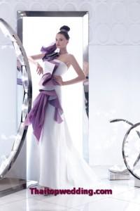 สุดยอดงานชุดแต่งงาน ชุดไฮไลท์สีม่วง 2554 ของคอลเลคชั่น