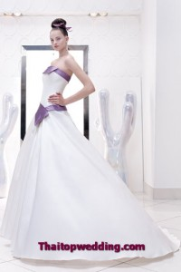 แฟชั่นเดรสชุดแต่งงานใหม่ ปี 2554แบบเกาะอก