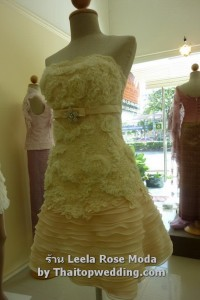 ชุดเพื่อนเจ้าสาว 2011 สีเชอร์เบท เดรสสั้นไปงานแต่ง สวยหรูทูโทน