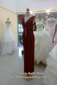 ชุดเดรสยาวไปงานแต่ง 2011 ผ้าชีฟอง Leela Rose