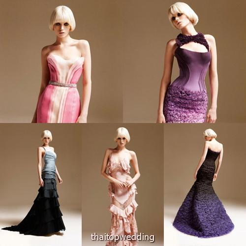 ชุดราตรีสวยๆ ชุดไปงานแบบดารา Atelier Versace 2011