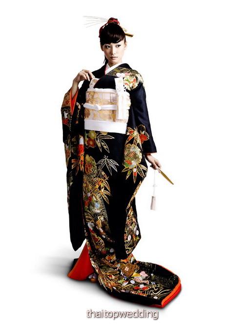 กิโมโน ชุดแต่งงานวัฒนธรรมล้ำค่า แบบญี่ปุ่น