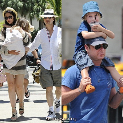 ใส่หมวกแบบดารา คุณพ่อ พาลูกไปเที่ยว  วัน Father's Day