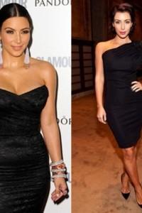 dress ดำเกาะอก และไหล่เดี่ยวงามๆ ของ Kim Kardashian