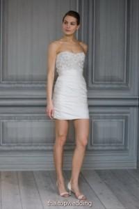 เดรสหมั้น ทรงสั้นสวยๆ Monique Lhuillier รุ่น 2012