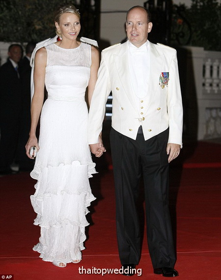 ภาพพิธีเสกสมรส เจ้าชายเจ้าชายอัลแบร์ที่ 2 แห่งโมนาโก