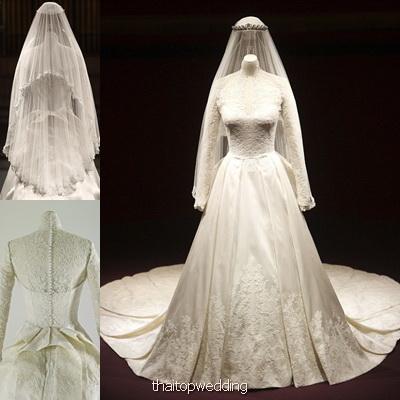 ดูชุดแต่งงาน เคท มิเดิลตัน เที่ยวอังกฤษ พระราชวังบัคคิงแฮม