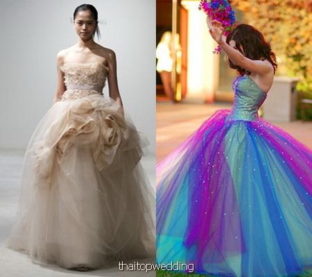 ศิลปะสีและงาน design ชุดแต่งงานสวยๆ ยุค 2011 แฟชั่นๆ
