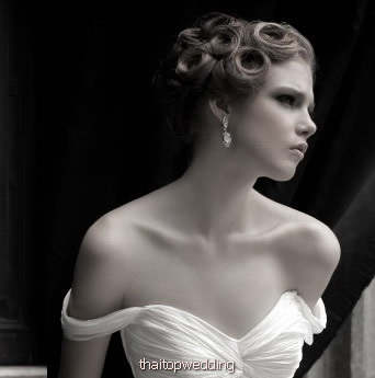 ผมสั้นชุดแต่งงาน แบบทรงผม เจี๊ยะหอฮ่อ ทรงฮ๊อตไอดอลๆ