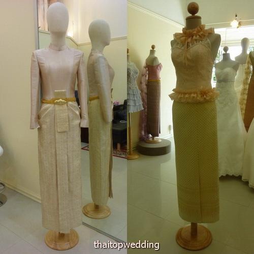 เช่าชุดไทยงานหมั้น ชุดไทยงานแต่งงาน โทนสีใหม่ๆ