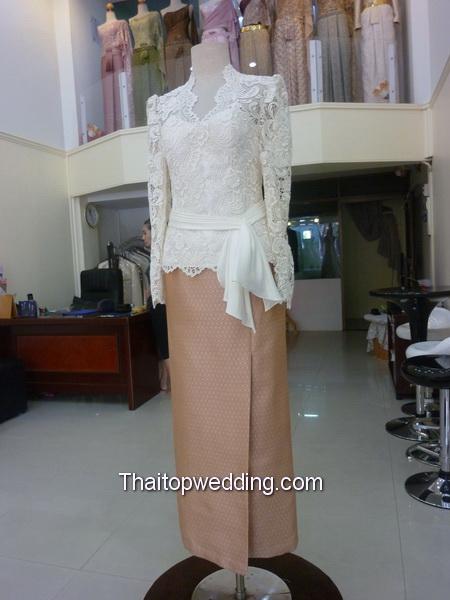 ชุดหมั้น แขนกุด ชุดไปงานหมั้น แขนยาว เดรส แต่งงาน