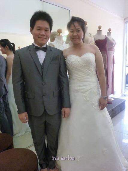 ชุดแต่งงาน แบบคุณโบว์ คุณเจ