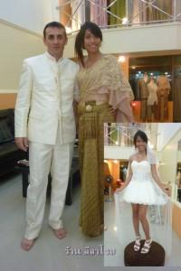 ชุดเดรสทรงฟักทอง ชุดแต่งงาน คู่ของ คุณโบว์+คุณโจว์