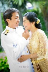 ชุดไทย ชุดแต่งงาน ของคุณภัทร -คุณเอก