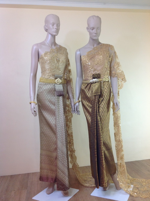 Thai traditional wedding dresses.