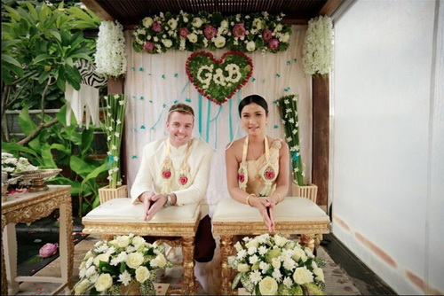 Real Thai wedding ceremony.