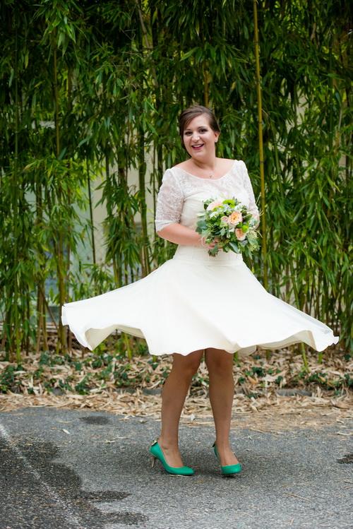 ชุดแต่งงานสั้น